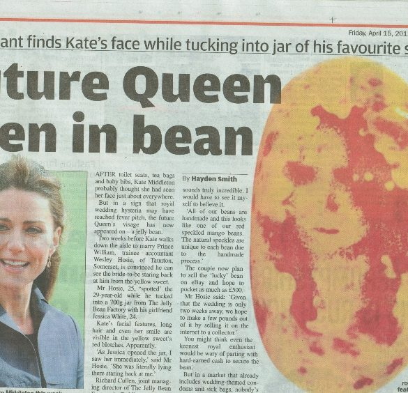 Kate Middleton Jelly Bean Metro splash