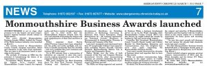 Monmouthshire Business Awards regional coverage