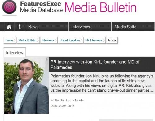 Jon Kirk PR interview