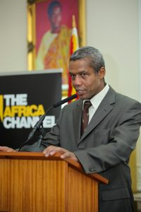 GUBA's patron, Hugh Quarshie, addressing guests at GUBA 2012