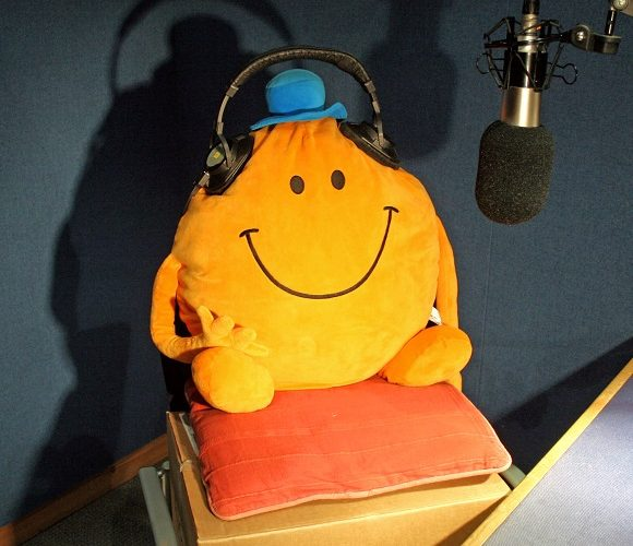 Mr Tickle, whose comedic reach sets him apart from other comedians, visits Bath to promote the new Mr Men audiobook by AudioGO.