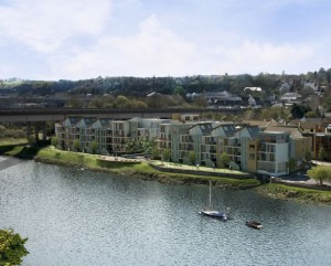 The £40M regeneration of Chepstow's historic waterfront has won the praise of the Monmouth MP, David Davies