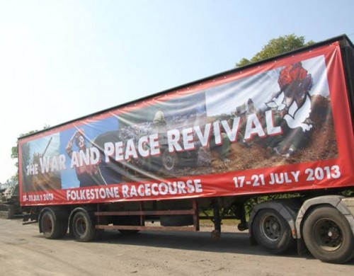 Neil Blower's charitable challenge at this year's War and Peace show took off