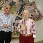 Peter Mills (left), the development director, at the VIP event at Severn Quay