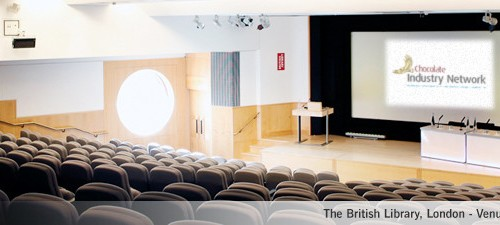 The lecture theatre a the British Library - the venue for this year's Kennedy's Confection Industry Network (KCIN), which will be promoted by the B2B PR agency, Palamedes PR