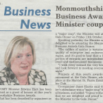 B2B PR coverage for MBA 2013 in Monmouthshire Beacon