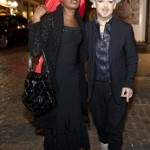 Palamedes P.R. Actress Grace Jones and 80's pop icon Boy Geaorge arrive at the opening of 'Gigi's', a new Italian restaurant in Mayfair. 25 09 2014