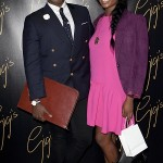 Palamedes P.R. Fashion blogger 'Prince Cassius' (L) arrives at the opening of 'Gigi's', a new Italian restaurant in Mayfair with a friend. 25 09 2014