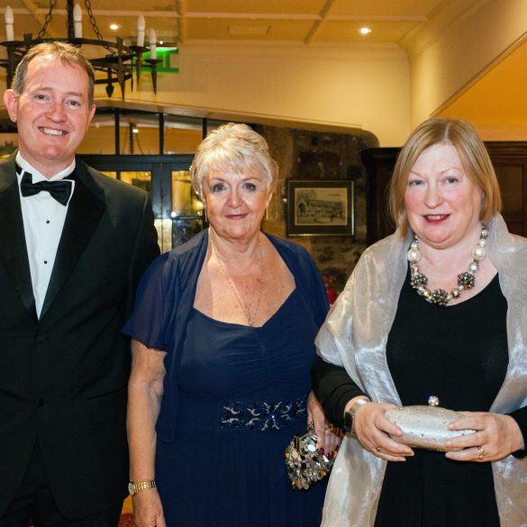 l-r: CEO of Monmouthshire County Council with janet Harris and Edwina Hart AM attending the Monmouthshire Business Awards and Gala Dinner - Friday 11th October 2013 - The St. Pierre Suite, St. Pierre Hotel and Country Club