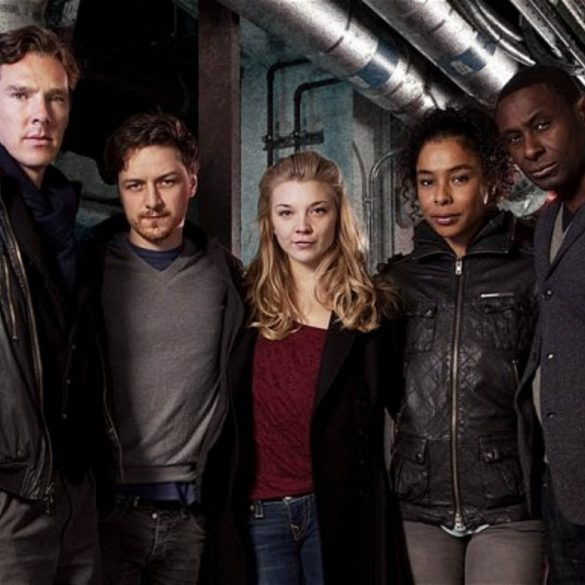 Programme Name: Neverwhere - TX: n/a - Episode: All (No. All) - Embargoed for publication until: 12/03/2013 - Picture Shows: (L-R) Islington (BENEDICT CUMBERBATCH), Richard (JAMES MCAVOY), Door (NATALIE DORMER), Hunter (SOPHIE OKONEDO), Marquis (DAVID HAREWOOD) - (C) BBC - Photographer: Steve Brown