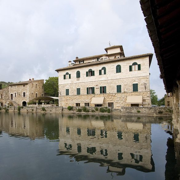 The nearby spa village of Bagno Vignoni