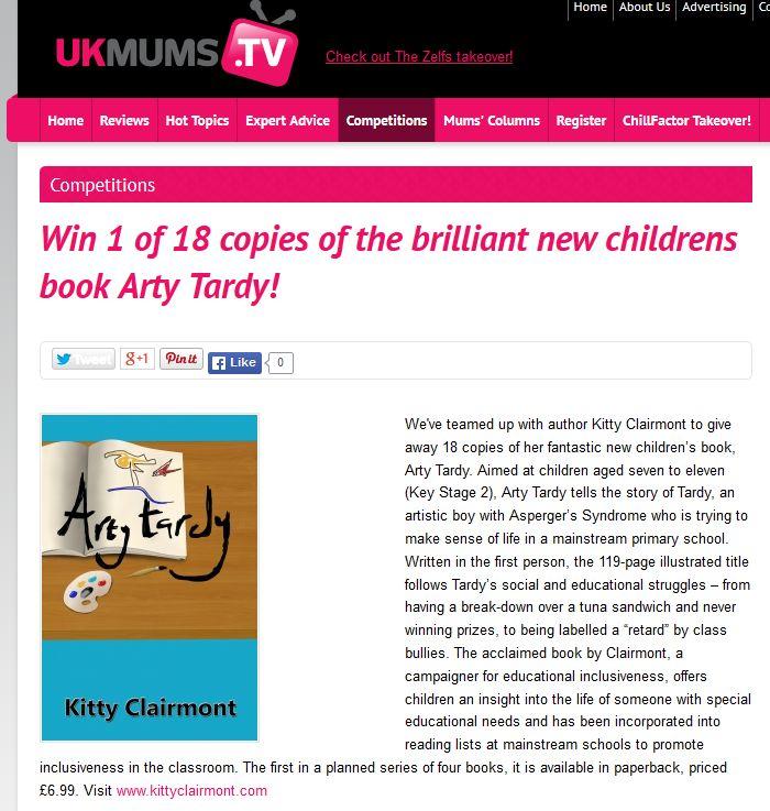 kc UK Mums TV 060415 Competition Arty Tardy
