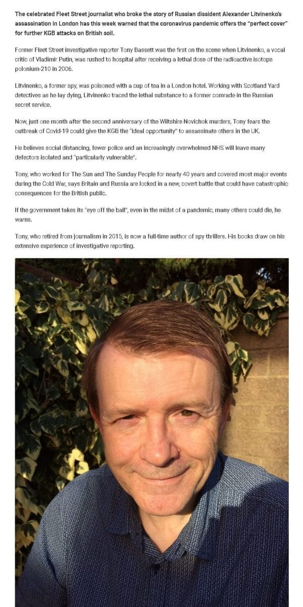 Mr Tony Bassett Stories.SWNS news story