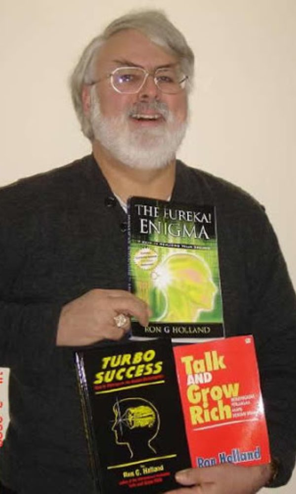 Ron G Holland with books