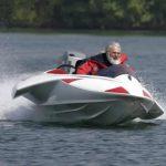 Ron G. Holland on speedboat