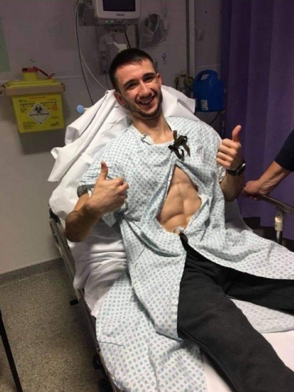 James Bailey in hospital